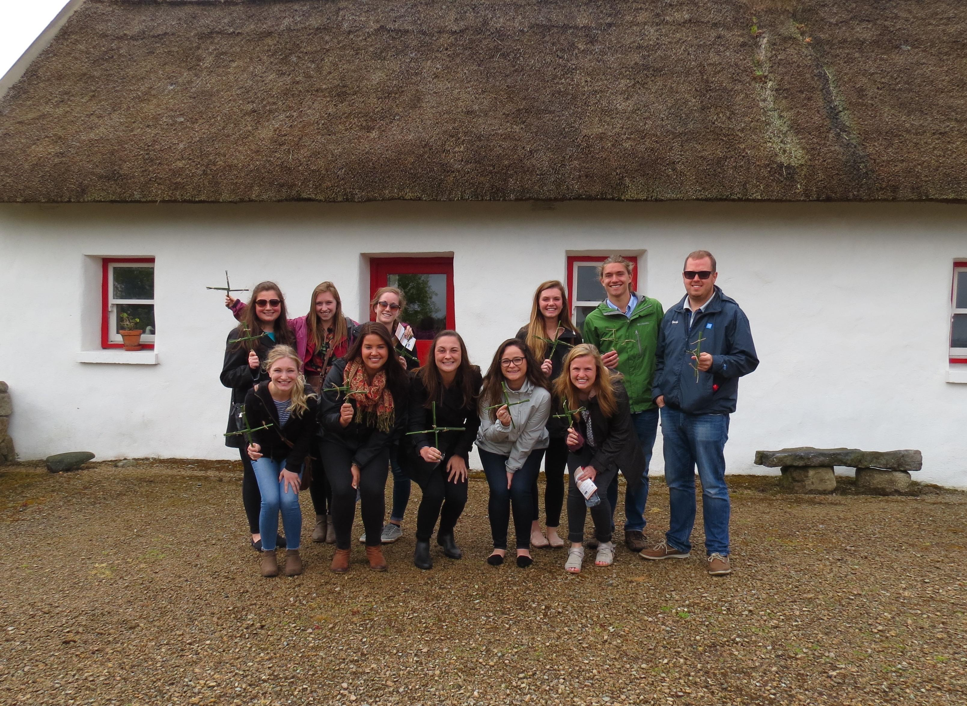 UMD group with Irish Crosses of St Brigid
