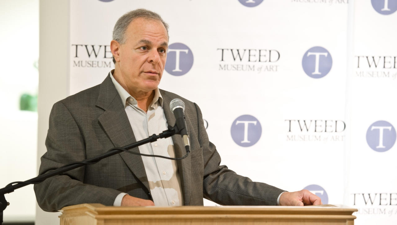 Ken Bloom speaking at the Tweed Museum of Art