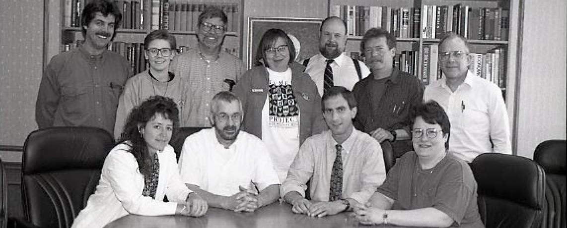 1993 photo of Gay Lesbian Coalition faculty and staff