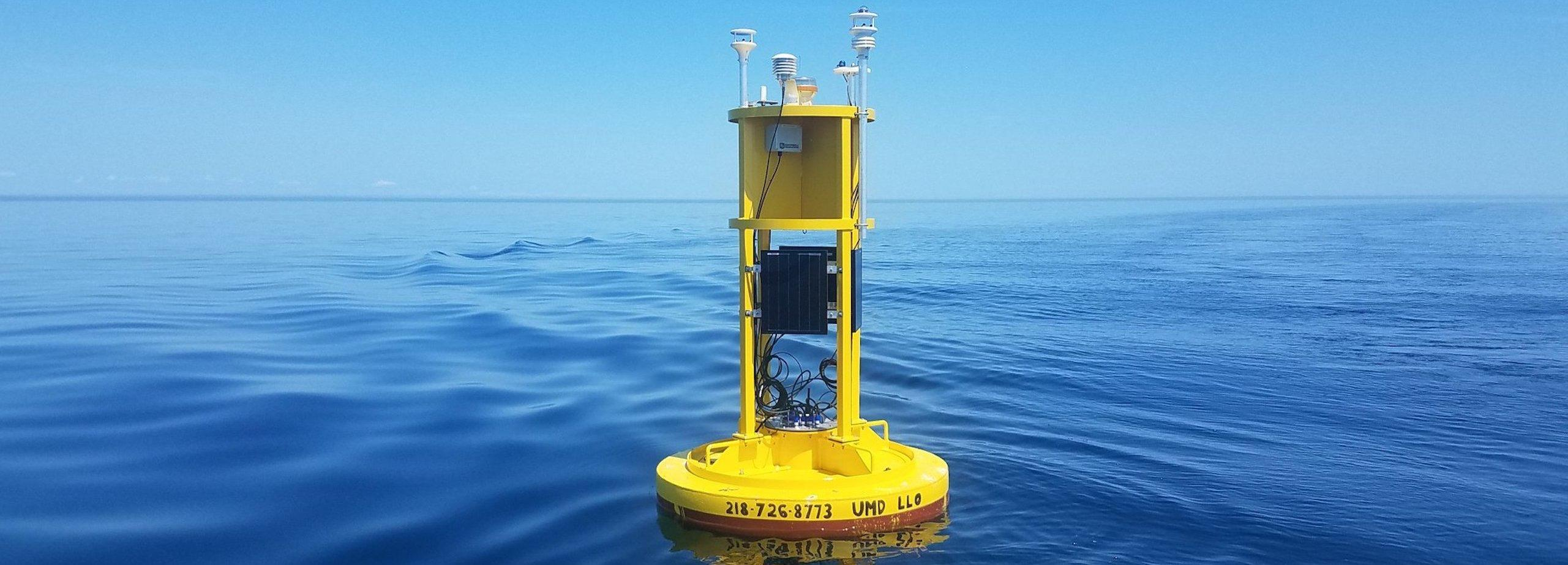 The buoy that marks the convective cell experiment also delivers real time data to the LLO offices.