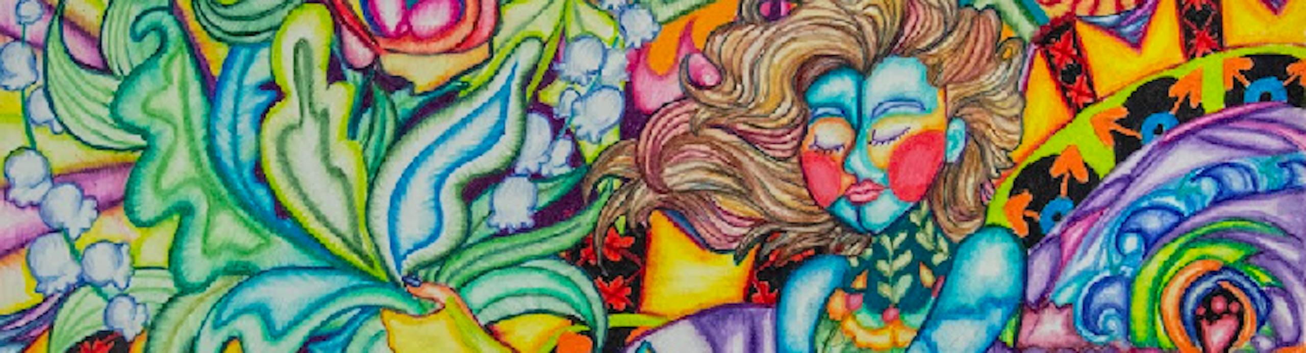 Detail of Madalina Kelner's's painting.