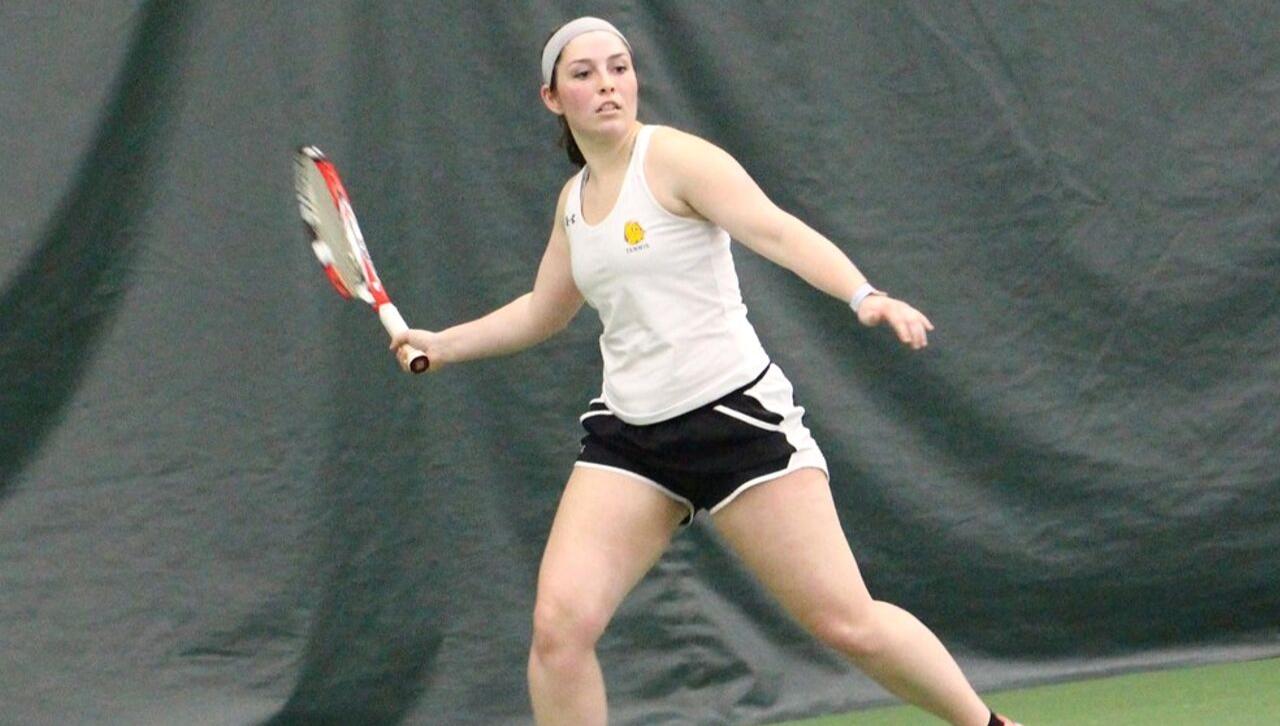 Senior UMD Tennis player Megan Anderson