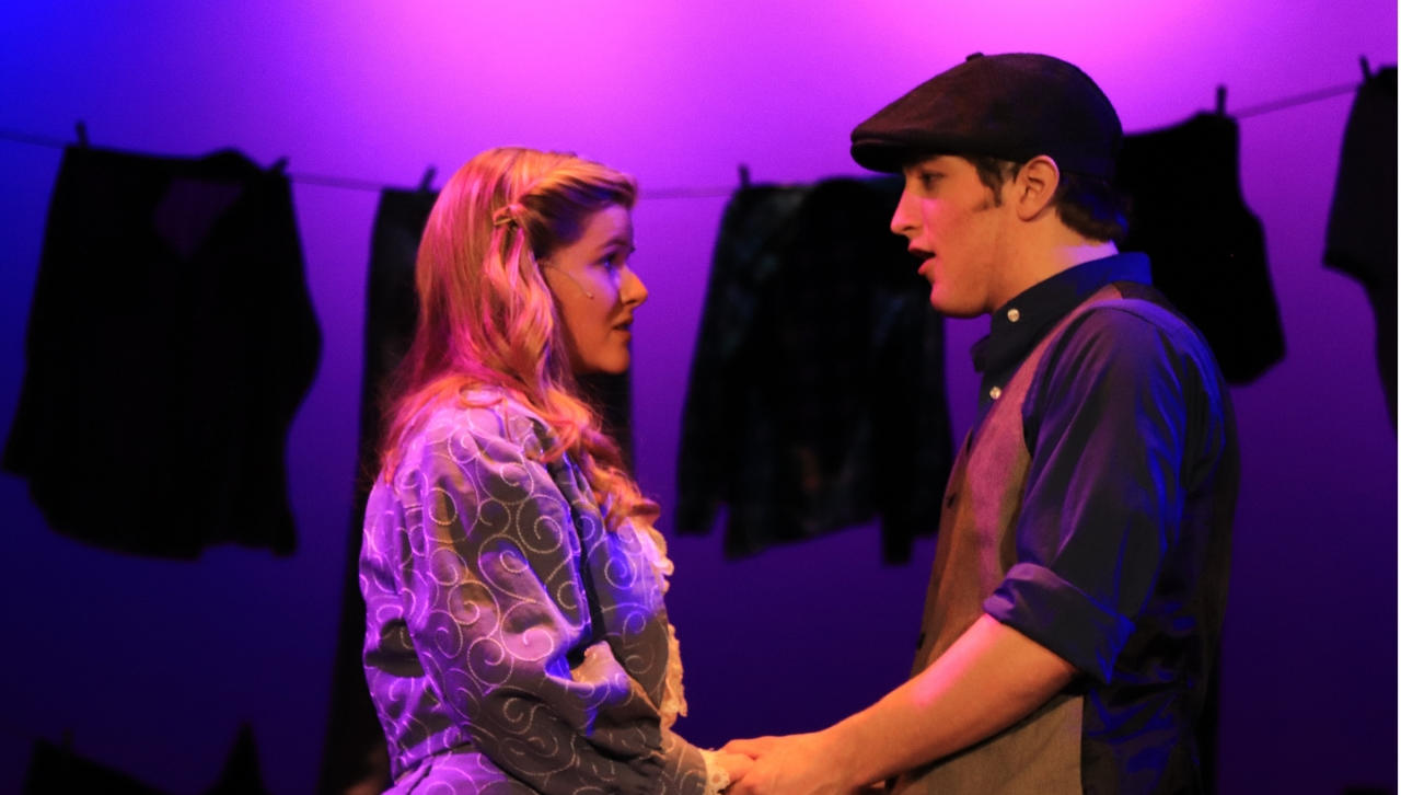 UMD's Lane Greer staring in the Duluth Playhouse production Newsies.