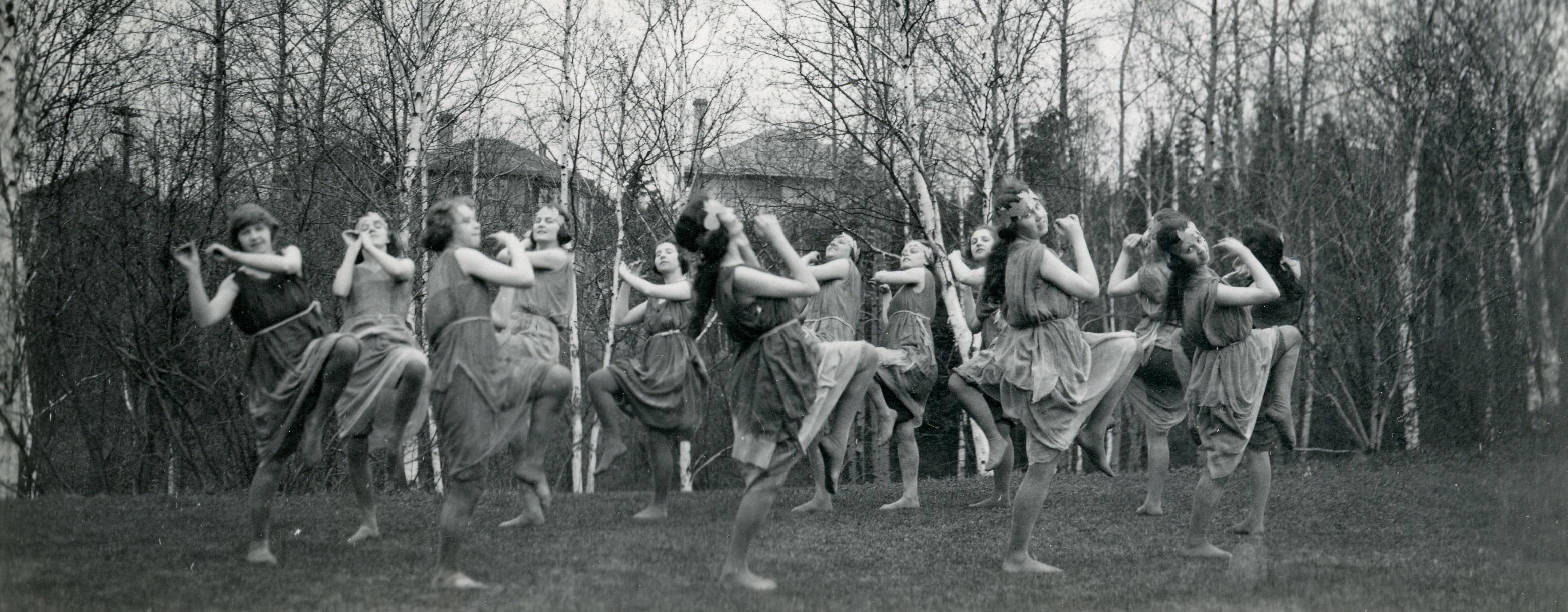 Students Dancing in Circle