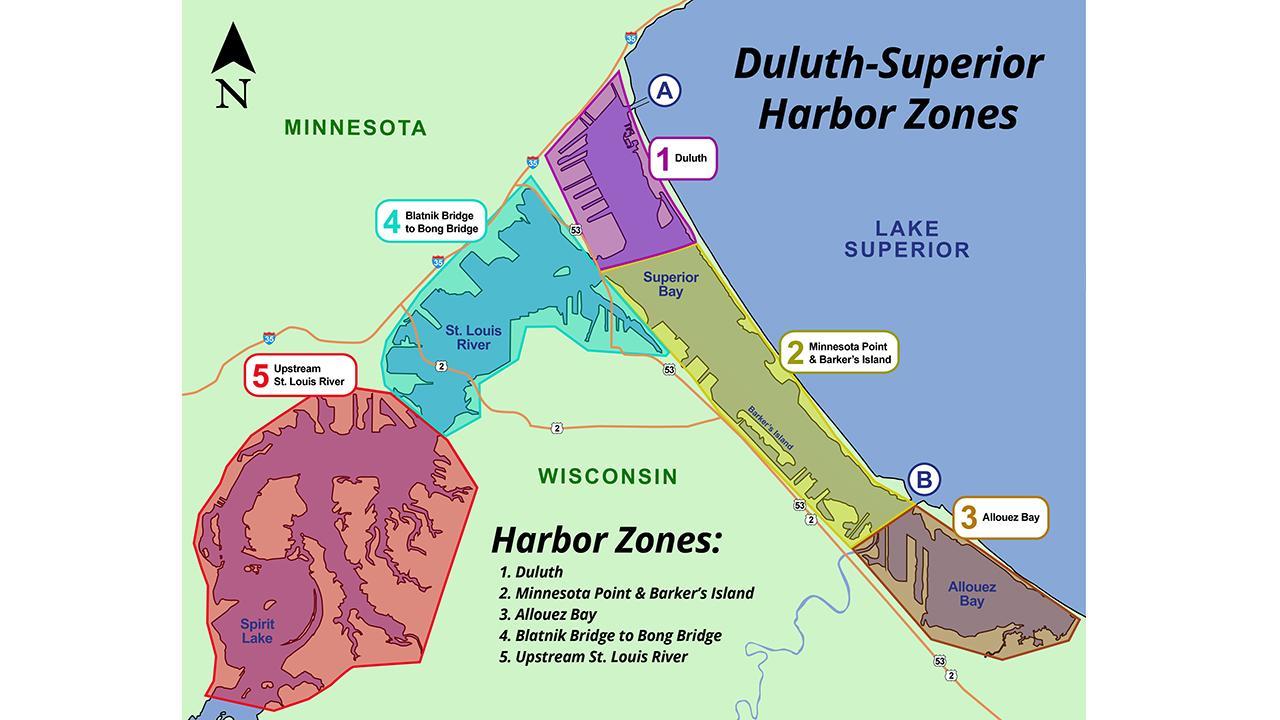 Minnesota Sea Grant Harbor Map
