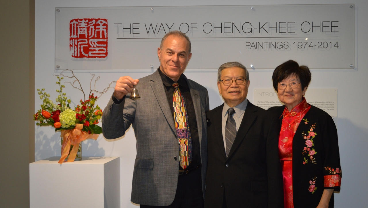 Ken Bloom and Chee at Chee's opening reception