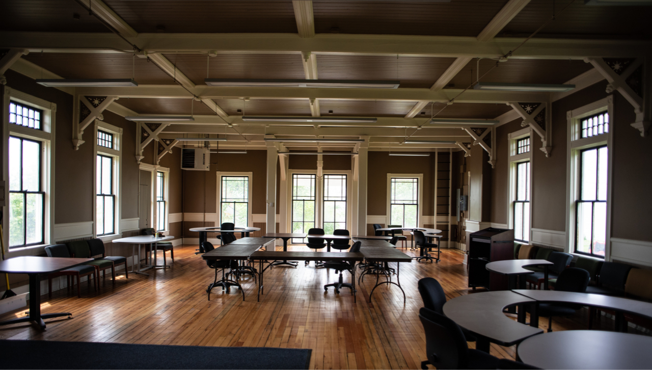Inside of the preserved Limnology building
