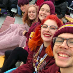 Five at the football game