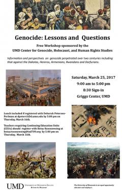UMD Genocide workshop poster
